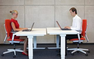 people sitting at a desk