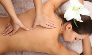 picture of a woman getting massage